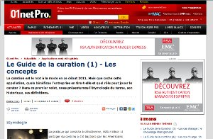 01net Guide de la curation