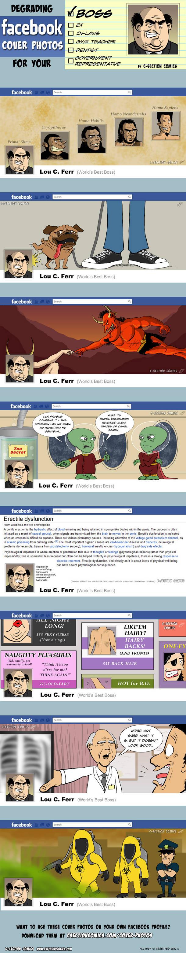Des idées pour la couverture du profil Facebook de ton boss