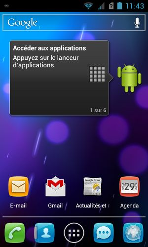 Alcatel onetouch 993D Android