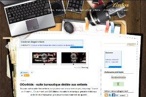 Zinfos | OOo4kids - suite bureautique dédiée aux enfants