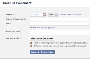 Facebook Évènement
