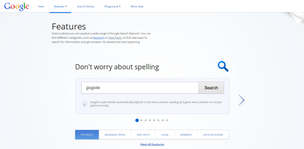Google fonctionnalités moteur de recherche