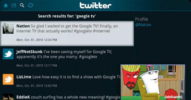 Google TV Twitter