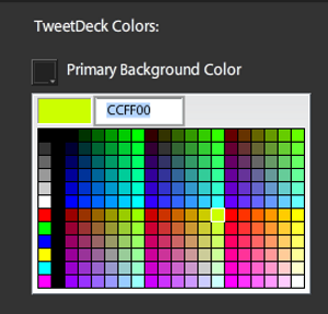 tweetdeck palette