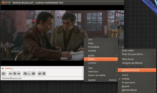 VLC capture d'écran