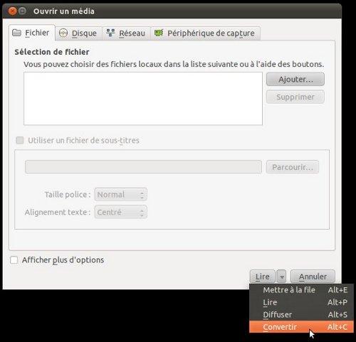 VLC convertir
