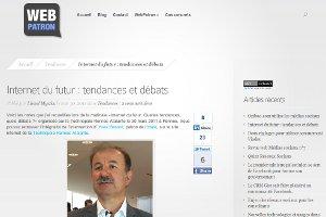 WebPatron - Internet du futur : tendances et débats
