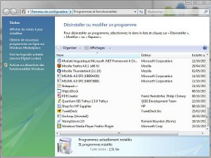 Windows désinstaller programmes