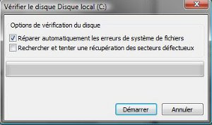 Windows vérification disque