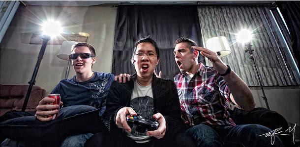 Jeux vidéo en groupe
