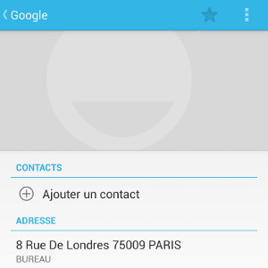 Android gagner du temps raccourcis adresse contact
