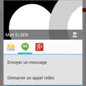 Android gagner du temps actions contact