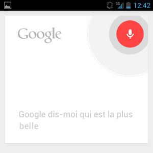 Android gagner du temps raccourcis recherche vocale