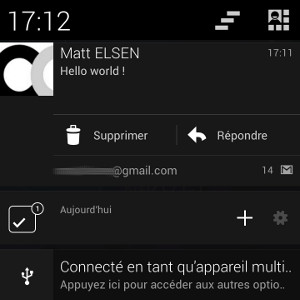 Android gagner du temps supprimer mail notification