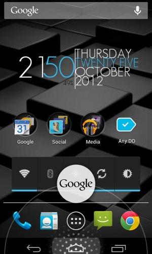 Android Accède rapidement à Google Now depuis n'importe quel écran