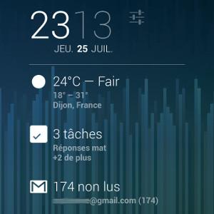 Android gagner du temps infos écran de verrouillage
