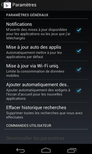 Android Empêche les applications de créer automatiquement un raccourci lors de l'installation
