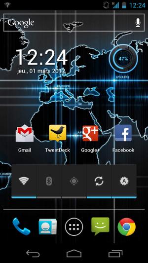 Mon bureau Android : widgets