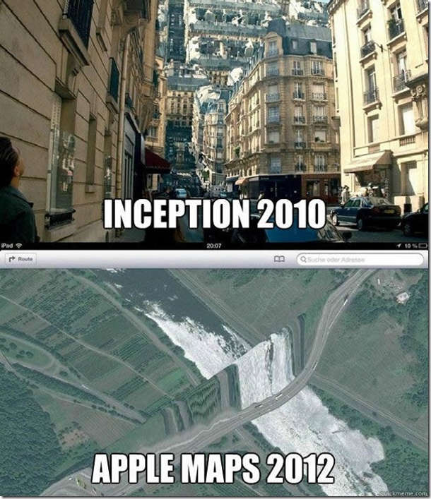 Apple Maps Inception