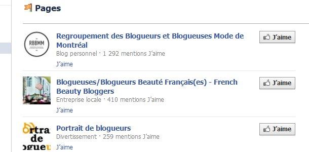 Groupes Facebook blogueurs