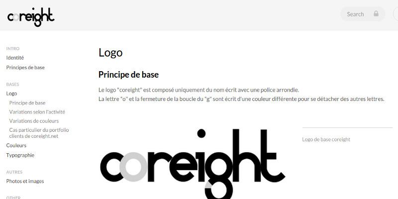 Charte graphique logo