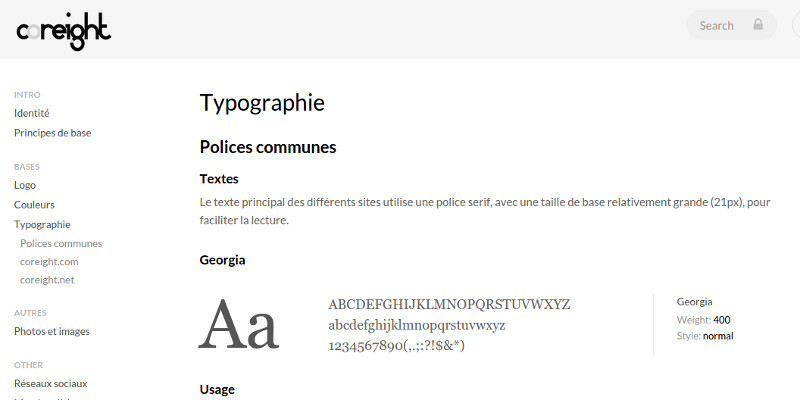 Charte graphique typographie polices