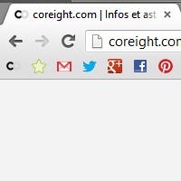 Chrome icônes de favoris