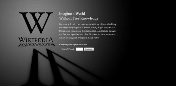 WIkipédia blackout