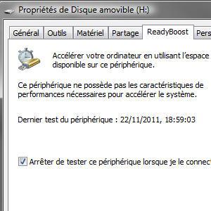 Clé USB performance ReadyBoost