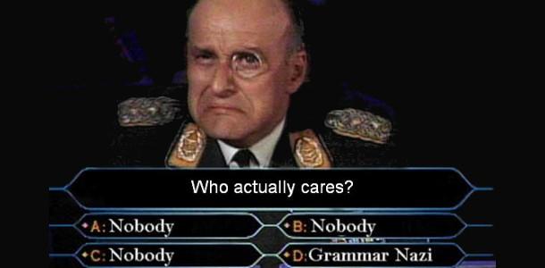 "Le ""grammar-nazi"""