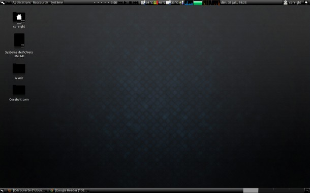 Coreight bureau Ubuntu + Gnome 2011