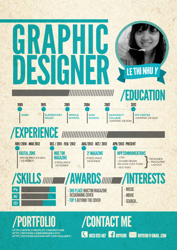 resume templates for graphic designers