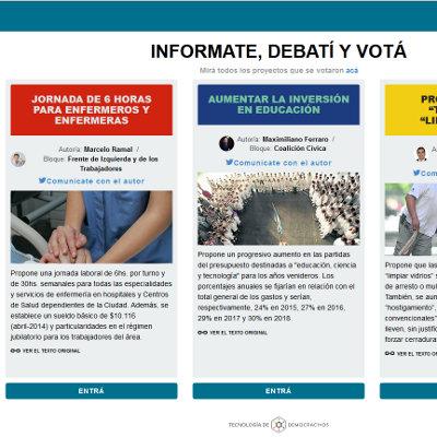 DemocracyOS accueil