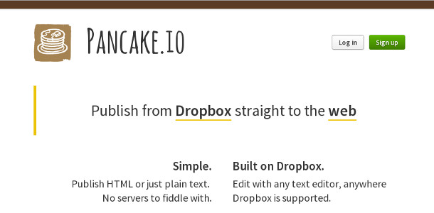 Dropbox pancake.io