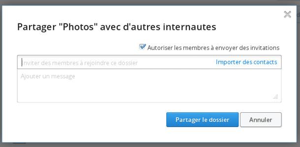 Dropbox partage