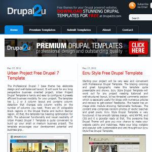 Drupal thèmes Drupal2u