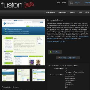 Drupal thèmes Fusion