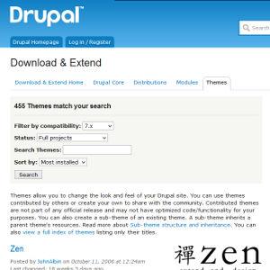 Drupal.org thèmes