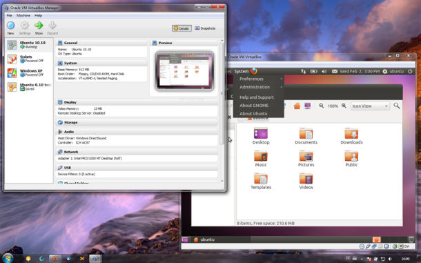 Essayer Linux VirtualBox