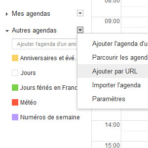 Facebook agenda import Google