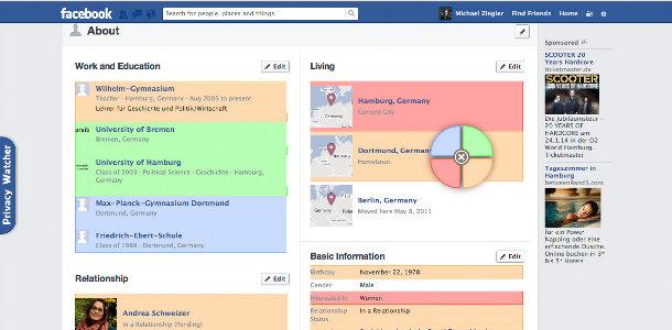 Améliorer facebook maîtrser confidentialité Privacy Watcher