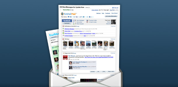 Facebook amélioration notifications par mail NutshellMail