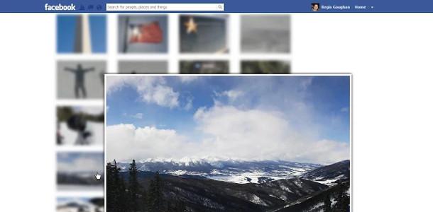 Facebook amélioration Photo Zoom