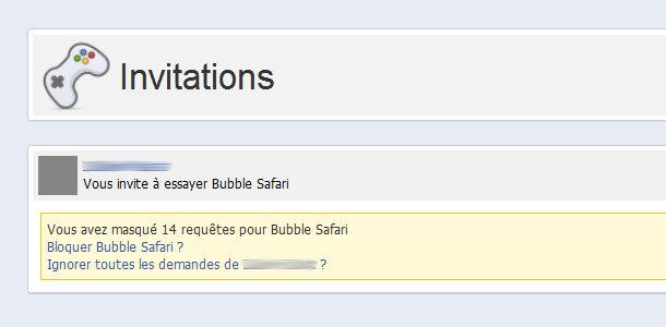 Facebook invitations applications