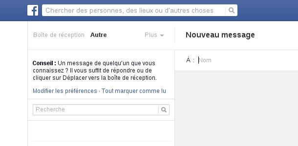 Facebook boite de réception Autres