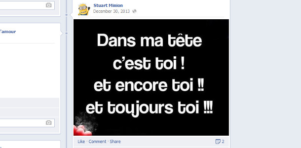 Couple sur Facebook superlatifs
