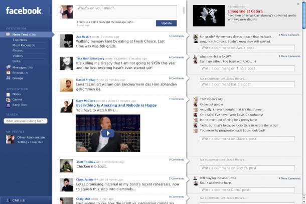 Facebook Redesign par iA