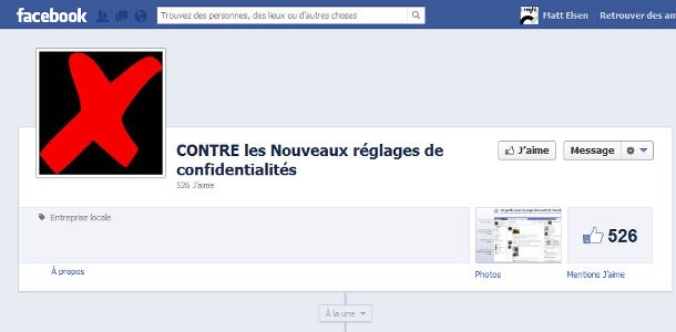 Facebook rumeur confidentialité