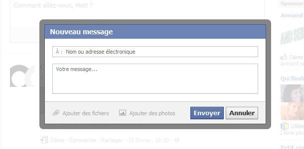 Facebook rumeur messages privés