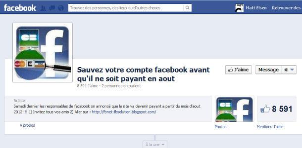 Facebook rumeur payant